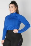 equestrian top chill base layer royal blue front a performa ride