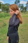 kids equestrian top chill base layer black left side performa ride