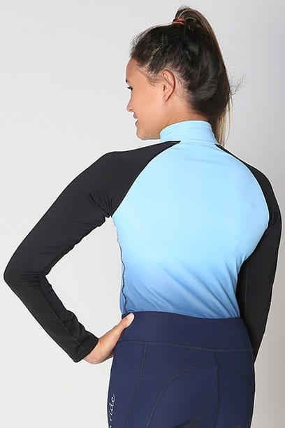 base layer equestrian top blue blue ombre back performa ride