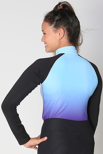 base layer equestrian top blue purple ombre back performa ride