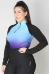 base layer equestrian top blue purple ombre front b performa ride