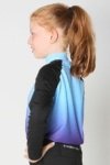 youth base layer equestrian top blue purple ombre left side performa ride