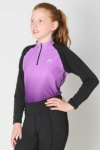 youth base layer equestrian top purple purple ombre front left b performa ride
