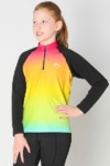 youth base layer equestrian top rainbow ombre front full performa ride
