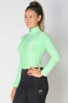 glacier long sleeve slim fit equestrian top adult mint front a performa ride