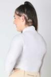 glacier long sleeve slim fit equestrian top adult white back b performa ride