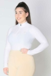 glacier long sleeve slim fit equestrian top adult white front b performa ride