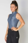 glacier sleeveless slim fit equestrian top grey front a performa ride