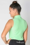 glacier sleeveless slim fit equestrian top mint back a performa ride