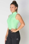 glacier sleeveless slim fit equestrian top mint front a performa ride