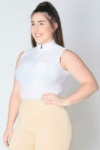 glacier sleeveless slim fit equestrian top white front b performa ride