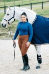 double pocket equestrian riding tights coffee front left performa ride