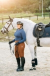 double pocket equestrian riding tights coffee left performa ride