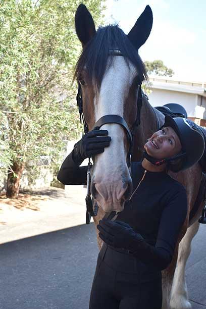 luna baselayer equestrian top black front performa ride