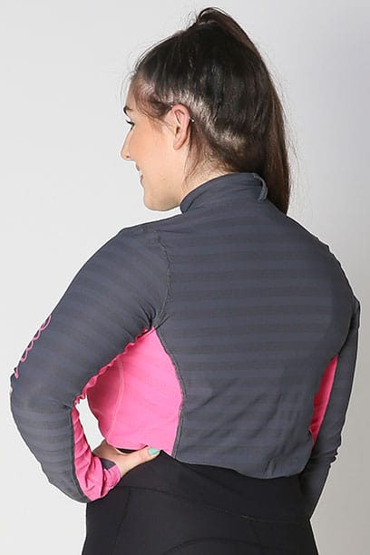 equestrian technical long sleeve top pink back b performa ride
